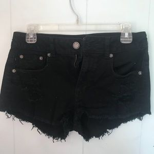 American Eagle black distressed shorts SIZE 4